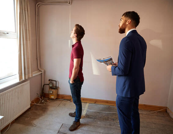 Landlord with a Tenant inspecting property